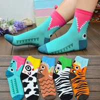 1pair 3D Printed Socks Women New Unisex Cute Low Cut Ankle Socks Multiple Colors Cotton sock Women's Casual Charactor Socks