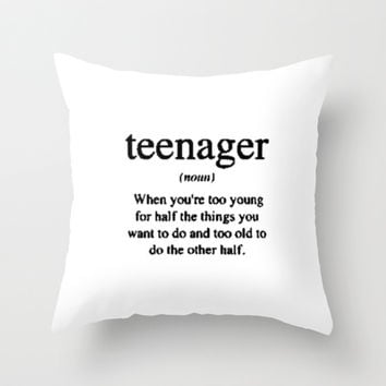 Teenager. Throw Pillow by S J A E