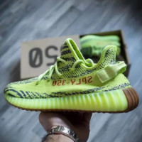 "Adidas Yeezy Boost 350 V2 ""Semi Frozen Yellow"" Running Shoes"