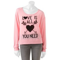 """Jerry Leigh """"Love Is All You Need"""" Sweater - Juniors"""