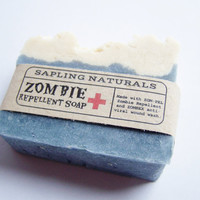 Zombify My Soap  Zombie Repellent Soap  great by saplingnaturals