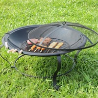 Falon Contemporary Style Outdoor Fire Pit with Spark Guard