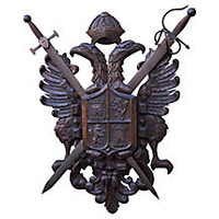 Spanish Carved Coat Of Arms