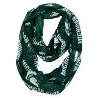 Michigan State Spartans NCAA Sheer Infinity Scarf