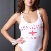 Malibu Beach Lifeguard Bodysuit