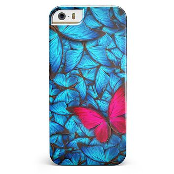 Contrasting Butterfly iPhone 5/5s or SE INK-Fuzed Case