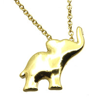 Tiny Elephant Pendant in Gold