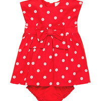 Kate Spade Babies' Fiorella Dress And Bloomer Set Fairytale Red Polka