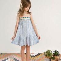 Anthem of the Ants Canyon Brocade Sundress Dress in Desert Sky - FINAL SALE