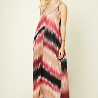 Tie-Dye Pocketed Maxi Dress