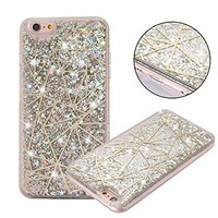 iPhone 6/6s Case, Asstar iPhone 6/6s Hard Case Flowing Liquid Floating Luxury Bling Glitter Sparkle TPU Bumper Case Cover Luxury Design for Grils fits for iPhone 6/6s 4.7 inch (Tangram S)