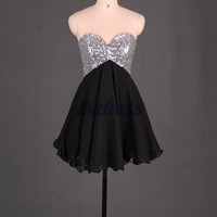 2014 short homecoming dresses with corset back,black chiffon prom dresses cute,sweetheart women gowns under 100.