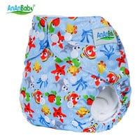 Baby Washable Cover Diaper Reusable Real Cloth Pocket Nappy Diaper Cover Wrap All in One Size Cloth Diaper Cover 1pc HA007