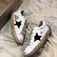 Ggdb Golden Goose Uomo Donna White Black Star G26d121.a6 Old Dirty Shoes - Best Online Sale