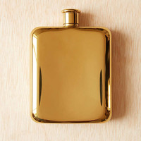 Gold Plated Flask   Urban Outfitters