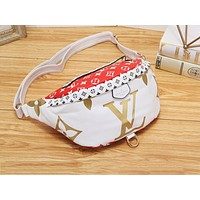 LV casual lady matching color printed Fanny pack fashion diagonal across the chest bag #2