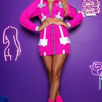 Way to Cargo Reflective Two Piece Set Hot Pink