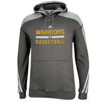 adidas Golden State Warriors Youth Practice Pullover Hoodie - Charcoal