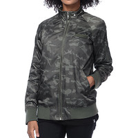 Members Only Washed Satin Camo Boyfriend Jacket