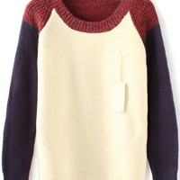 Street-chic Color Block Sweater