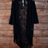 Bell sleeved laced cardigan