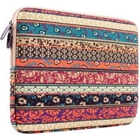 """Plemo 12-Inch Bohemian Style Laptop Sleeve Tablet Case Bag for 12"""" MacBook / iPad Pro / Surface Pro 4"""