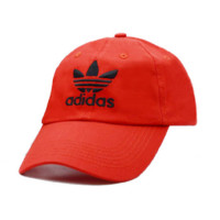Red Adidas Embroidered 100% Cotton Adjustable snapback cap