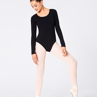 Free Shipping - Adult Cotton Blend Long Sleeve Leotard by THEATRICALS