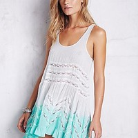 Intimately Womens Color Washed Voile and Lace Slip