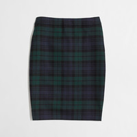 Factory pencil skirt in Black Watch plaid : Skirts | J.Crew Factory