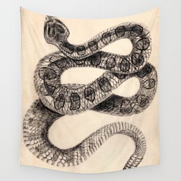 Snake Wall Tapestry by amberleahstidham