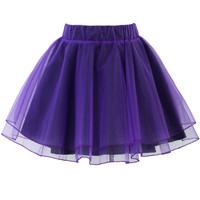 Organza Tulle Skirt in Purple Purple S/M