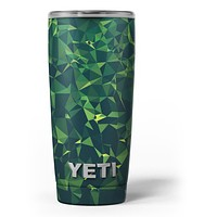 Greenage Geometric V13 - Skin Decal Vinyl Wrap Kit compatible with the Yeti Rambler Cooler Tumbler Cups