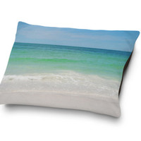 Beach Anna Maria 2 - Pet Bed, Pastel Colored Pet Bedding Accent, Beach Surf Style Blue & Green Coastal Home Decor. In Small Medium and Large