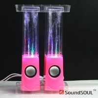 Soundsoul Music Fountain Mini Amplifier Dancing Water Speakers (Pink)