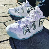 Nike Air More Uptempo'Chrome' sneakers basketball shoes
