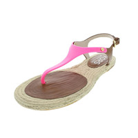 KORS Michael Kors Womens Stephy Leather Colorblock Thong Sandals