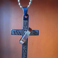 3 Colors Stainless Steel Necklaces Men/ Prayer Cross Men Pendant Necklaces Jewerly