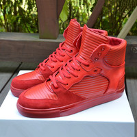 Indie Designs Balenciaga Inspired Pleated Leather High Top Sneakers