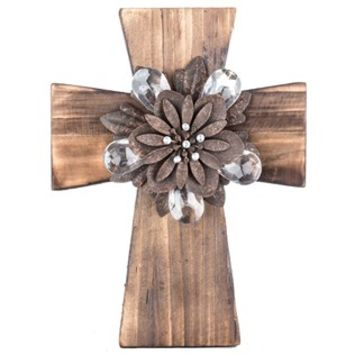 Brown Cross with Rustic Flower Center | Shop Hobby Lobby