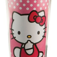 Vandor 18051 Hello Kitty 16 oz Plastic Travel Mug, Pink