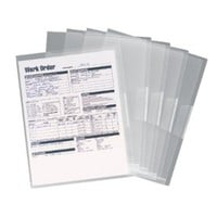 Smead Poly Translucent Project File Jacket, Letter Size, Clear, 5 per Pack (85751)