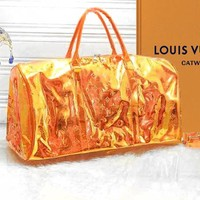 LV Louis Vuitton Reflective Jelly Laser Portable Messenger Transparent Bag 2#