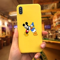 Donald Duck Mickey Mouse soft tpu Phone Cases For iphone 6 6S 7 Case For iphone 8 7P XR X XS MAX Cover Cute cases Cartoon Animal