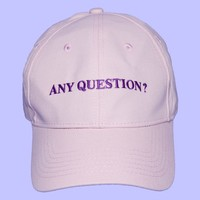Any Question?! Cap | Pink