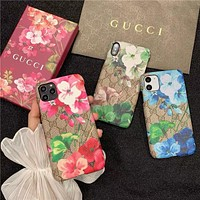 GUCCI GG Floral Print iPhone 7/8/11/12 Phone Case Cover