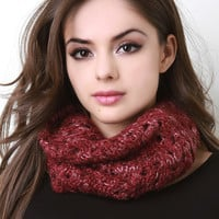 Marled Infinity Knit Scarf