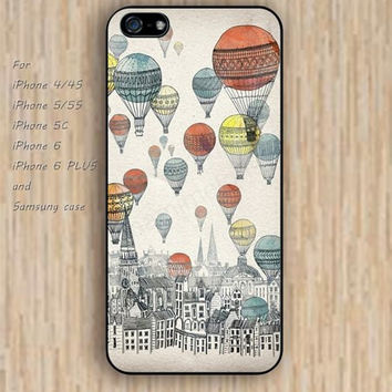 iPhone 6 case Hot Air Balloon up iphone case,ipod case,samsung galaxy case available plastic rubber case waterproof B067