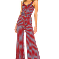 Free People City Girl Jumpsuit in Wine