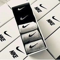 NIKE Fashion New Hook Print Sport Women Men 5 Pairs Sock Boxed
